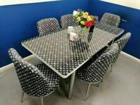 💥💥WINTER SEASON SALE😍💕 ON VERSACE EXTENDABLE DINING TABLE AND 6 CHAIRS