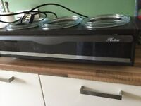 Hostess 3 dish electric food and plate warmer