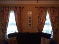 3 pairs of Sanderson curtains for sale