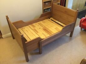 Ikea Leksvik Wood Toddler Child To Single Extendable Cabin Bed (Two Available)