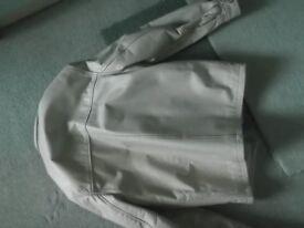 Man's White Leather Jacket