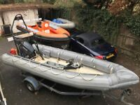 Avon Searider 5.4m rescue (ex military) with Yamaha Pro 75ELPTO