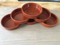 6 Terracotta ramekins