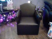 Childs faux leather armchair cute