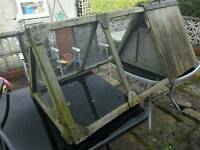 Outdoor Guinea pig/rabbit run with small shelter