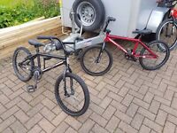 "BMX for sale, two Redline 20"" race BMX for sale, one Black and one Red"