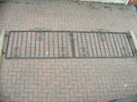 "Pair of Metal Driveway Gates Drive Entrance 3.8m inc 5ft 6"" concrete posts"