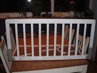 BabyDan white wooden Bed Guard (bedguard)