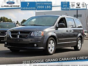 2016 Dodge Grand Caravan CREW**7 PLACES*CUIR*DVD*CAMERA* BLUETOO