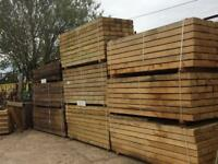 Oak sleepers 2.4m 200x100 mm top quality Timber