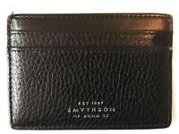 Smythson Of Bond St Burlington Grained Black Leather Cardholder Card Wallet