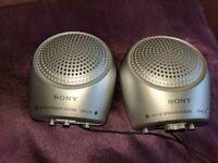 sony mini active speakers as new mp3 & audio systems i.e sony walkman