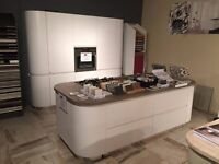Curved and sleek ex-display white Italian kitchen from AR Cucine £15,000