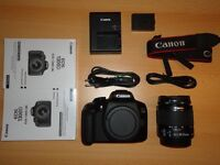 brand new canon 1300d with 18-55 kit lens
