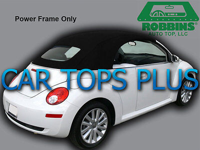 2003-11 Volkswagen Beetle Convertible Top & Heated Glass Black Stayfast Cloth