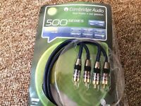 Cambridge Audio Cable 2PH/ 2PH. 500 Series. 1 m long Cable.