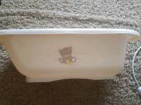 Mothercare Teddy Toy Box Bath and Top 'n' Tail bowl.