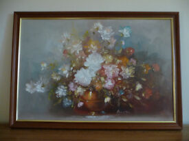 Large Oil Painting Flowers Hand Painted
