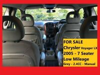 CHRYSLER VOYAGER LX ¦ 2.4CC ¦ 7 SEATER ¦ MPV ¦ VERY LOW MILEAGE