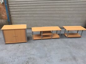 3 piece cabinet/ tv stand/coffee table