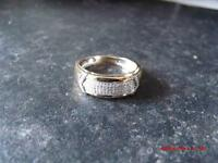 mans gold diamonds wedding band
