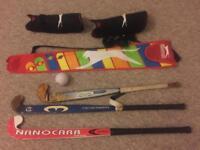 Field hockey sticks and kit