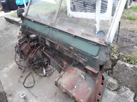 1968 2A Land Rover chassis and bulkhead