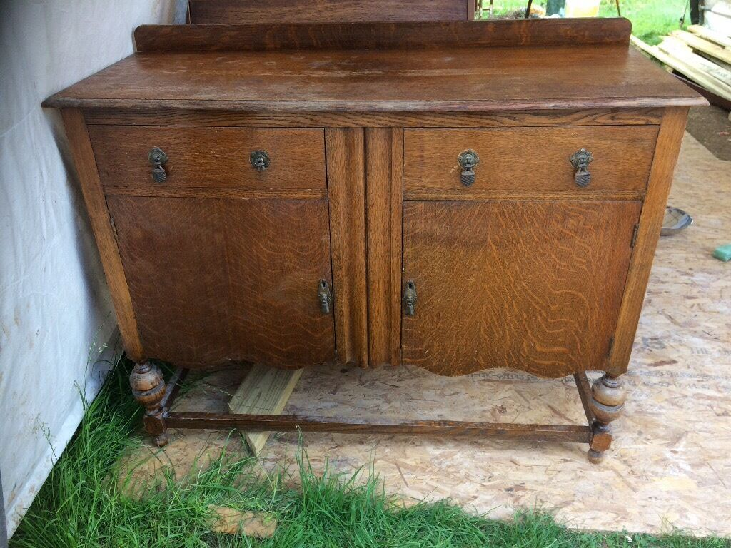 retro solid wood side boardin Westbury On Trym, BristolGumtree - Solid wood side board, a great upcycling project, would benefit from some new handles and a paint to make a really lovely vintage/ shabby chic piece