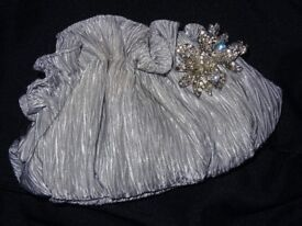 Ladies Silver / Grey Bag - Perfect for Weddings, Bridesmaids, Night Outs