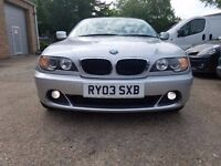 SILVER BMW E46 318i CONVERTIBLE AUTOMATIC