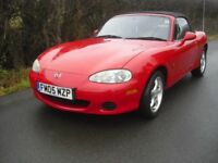Mazda MX-5 Convertible, long MOT and just been serviced, only 68753 miles