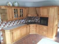 Fitted kitchen, solid wood including appliances and granite surround for hob