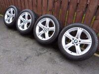 "Mint Genuine 2013 BMW 3 Series F30 Style 393 17"" Alloys Wheels E46 E90"
