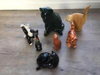 Cat Ornaments selection of 7 cats