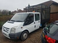 man with van and caged tipper rubbish cleared