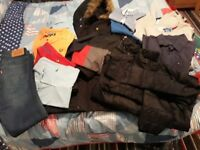 Boys designer clothes and coats age 13-14