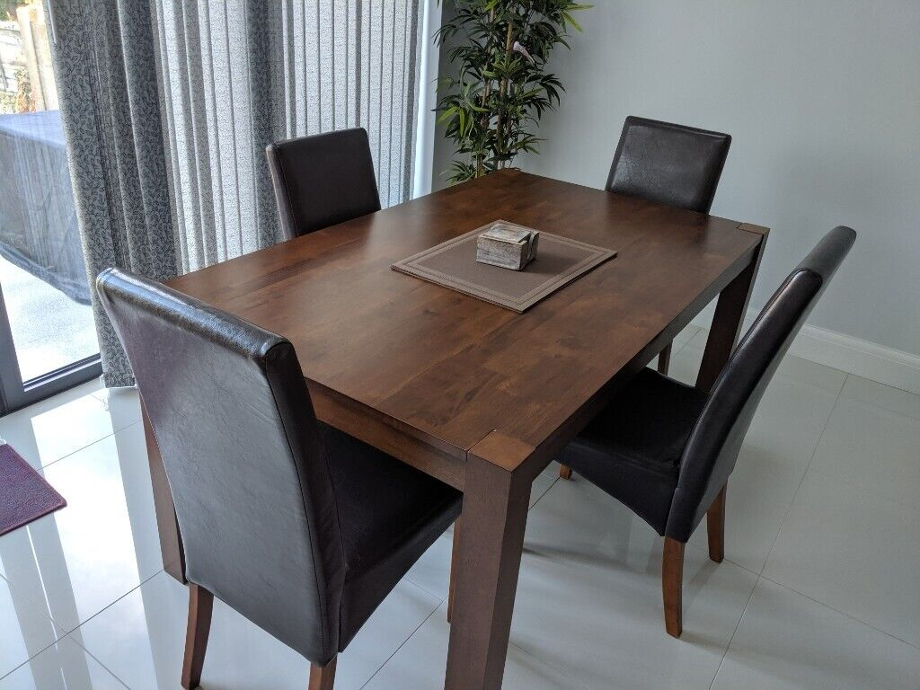 Wondrous Solid Wood Dining Table With 4 Chair In Excellent Condition In Orpington London Gumtree Download Free Architecture Designs Grimeyleaguecom