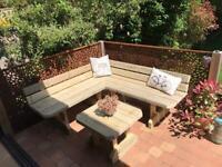 Garden corner seating