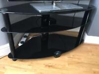 3 tier toughened glass tv stand