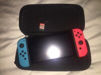 Nintendo switch console and Mario kart game