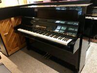 1980 Grotrian-Steinweg (Steinway fam) 112 Black Gloss Upright Piano, German. FREE DELIVERY 3Yr W'ty