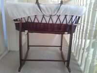 Moses Basket with Rocking Stand Clair du Lune
