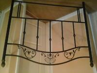 New headboard double bed size metal frame