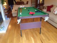 Snooker Table 1/2 size. complete Set