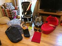 Quinny Buzz travel system, buggy, stroller, pushchair plus maxi cost car seat