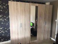 5 door oak wardrobe