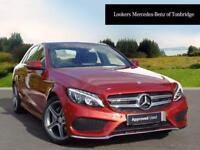 Mercedes-Benz C Class C200 D AMG LINE PREMIUM PLUS (red) 2017-09-01