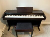 Yamaha YDP144 Digital Piano in Rosewood with Stool and Headphones