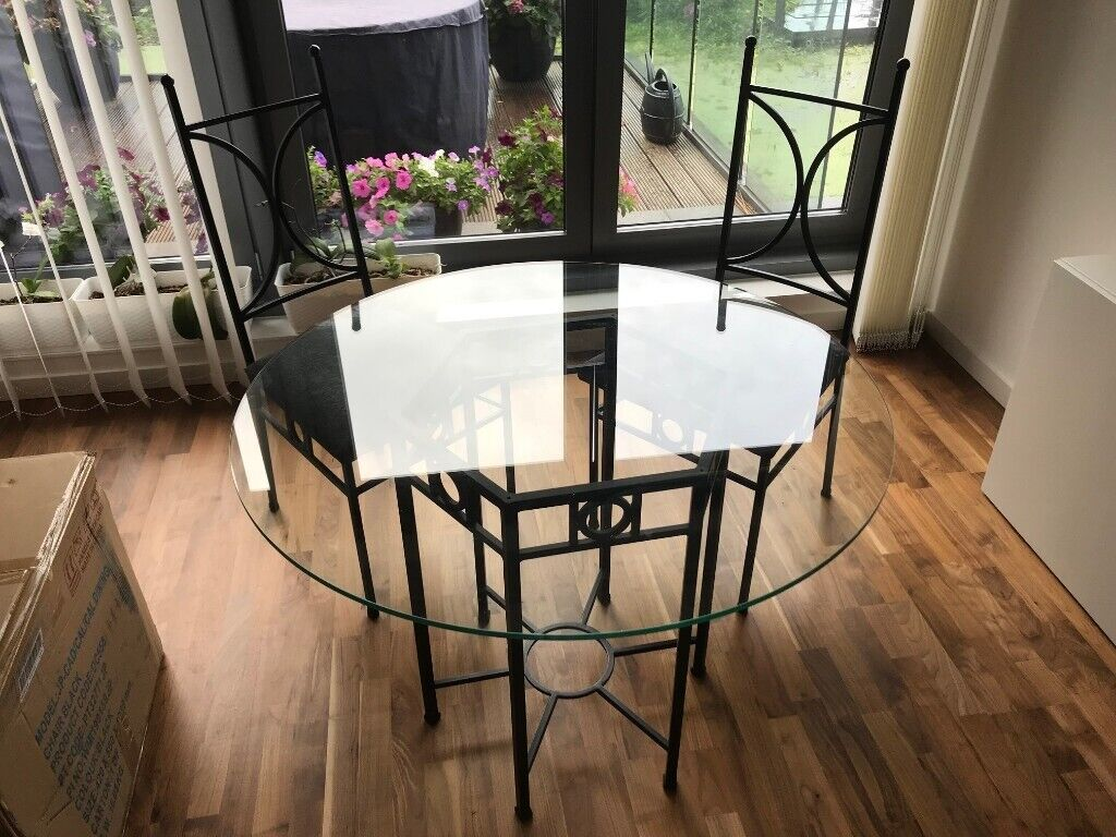 Dining Set Glass Table With 2 Chairs And Coffee Table Unique Black Frame In Poplar London Gumtree