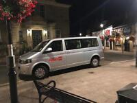 Mini bus Taxi Leeds city council plated